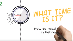 Read time in Hebrew