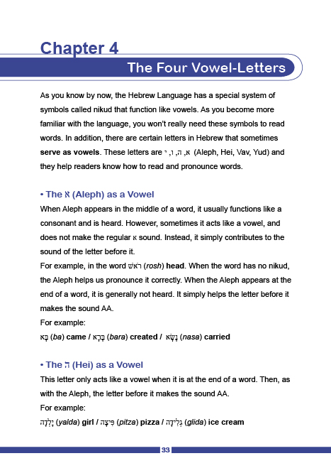 Hebrew Starter's Packets - chapter 4